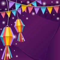 färgstark festa junina festlighet bakgrund vektor