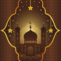 elegante Silhouette Moschee Hintergrund vektor