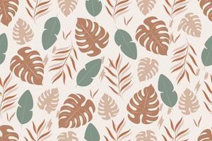 trendiges nahtloses Muster mit tropischen Blättern vektor