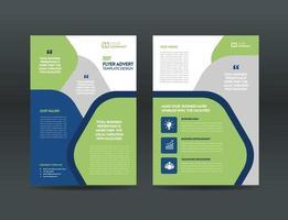 Corporate Business Flyer Design oder Handout und Faltblatt Design oder Marketing Sheet Broschüre Design vektor