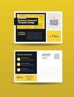Corporate Business Postkarte Design oder speichern Sie das Datum Einladung oder Direktwerbung vektor