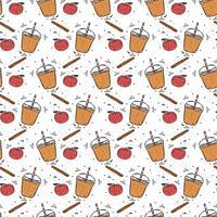 Apple Cider Slush Pattern Vector