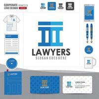 Anwaltslogo, Anwaltskanzlei, Anwaltskanzlei, Logo der Corporate Identity-Vorlage vektor