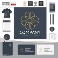 abstrakte Logo Corporate Identity Vorlage vektor
