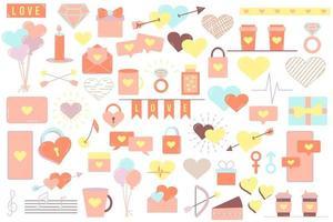 Satz von Elementen für den Valentinstag vektor