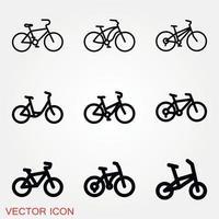 Fahrradikonenvektor vektor