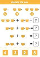 Zusatz für Kinder mit Cartoon-Teetasse vektor