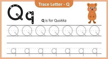 Spurenbuchstabe q vektor