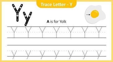 Spurenbuchstabe y vektor