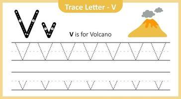 Spurenbuchstabe v vektor