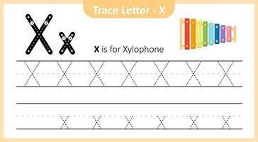 Spurenbuchstabe x vektor