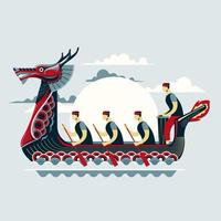 chinesische Drachenboot Festival Festival Vektor-Illustration vektor