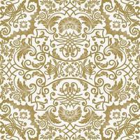 Vektor nahtloses Muster mit detaillierten floralen Elementen