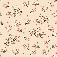 nahtloses Muster mit roten Beeren vektor