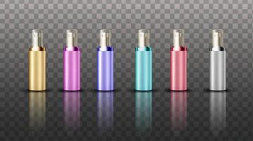 Sammlung von Farb-Hautpflege-Creme-Display vektor