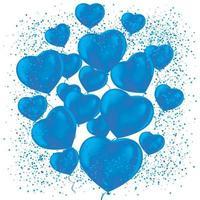 gefrostete Partyballons für Eventdesign vektor