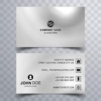 Moderne schöne Visitenkarte Design-Vorlage