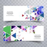 Sammanfattning färgglada banners set design vektor