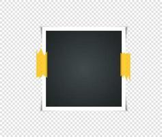 Satz leerer Vintage Bilderrahmen mit Klebeband vektor