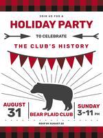 Awesome Buffalo Plaid Einladung Vektoren