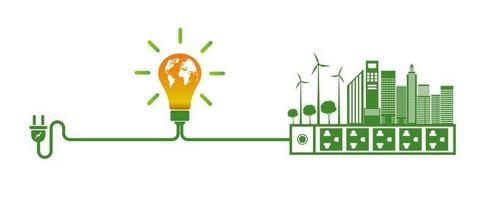 Ideen für grüne Energietechnologie für die Umwelt vektor