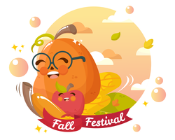 höst festival vektor