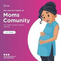 Banner Design von wir kümmern uns um die Gesundheit der Mütter Gemeinschaft vektor