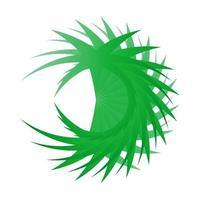 Kunst abstrakte geometrische kreative Design mit grüner Farbe vektor