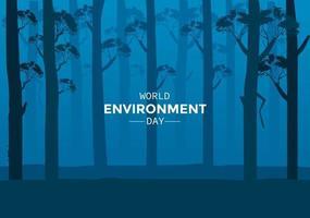 Weltumwelttag mit Nachtwald vektor