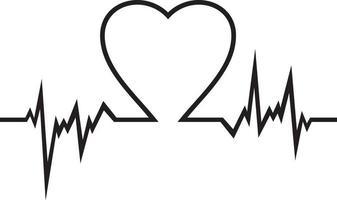 Herz schlägt flach Symbol vektor