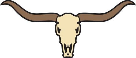 Longhorn Schädelfarbe vektor