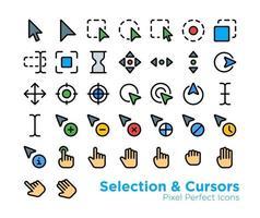 Auswahlcursor-Symbole vektor