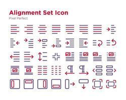 Ausrichtungssatz Symbol Pixel perfekt vektor