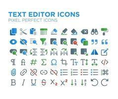 Texteditor Pixel perfektes Symbol vektor