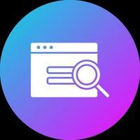 Browser-Suchsymbol vektor