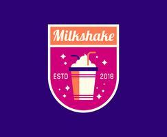Diner-Milchshake-Logo vektor