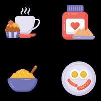 Frühstück und Lebensmittel vektor