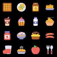 Essen und Trinken Ikonen vektor