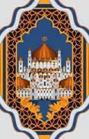 ied Moschee Hintergrundkonzept vektor
