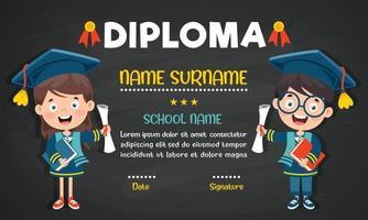 Diplom für Vorschul- und Grundschulkinder vektor