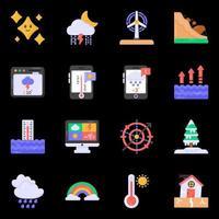 Symbole für Meteorologie und Wettervorhersage vektor