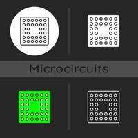CPU-Sockel dunkles Thema Symbol vektor