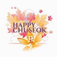 Koreanska Chuseok Thanksgiving Holiday eller Chuseok vektor