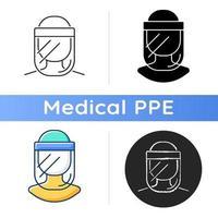 medizinisches Gesichtsschutzsymbol vektor