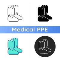 Symbol für medizinische Stiefelabdeckungen vektor