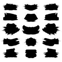 Abstrakter schwarzer grunge Anschlagsatz vektor
