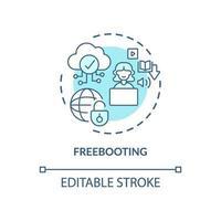 Freebooting-Konzeptsymbol vektor