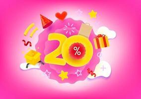 20 Prozent Einkaufsrabatt Illustration vektor