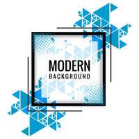 Moderner blauer polygonaler Formhintergrundvektor