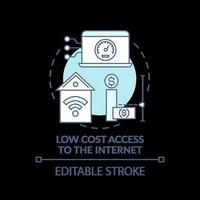 kostengünstiger Zugang zum türkisfarbenen Internet-Konzeptsymbol vektor